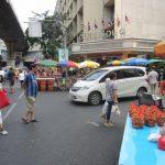 タイのデモ隊が封鎖している「開放予定」の交差点