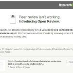 """機能不全の査読システムを補完するResearchGateの""""Open Review"""""""