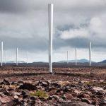 羽のない風力発電機