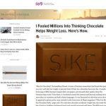 「チョコレートがダイエットに効果的」は嘘だった!