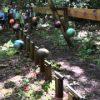 ボーリングのボール16個による振り子運動