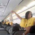 セブ・パシフィック航空の客室乗務員による「安全ダンス」