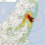 群馬大の早川教授が公表データをまとめて作成した原発から半径300キロ・メートルの汚染地図