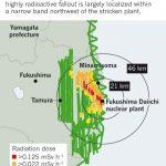 福島第1原子力発電所からの放射性降下物の広がり方