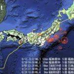 東日本大地震 発生地点・規模・時刻分布図