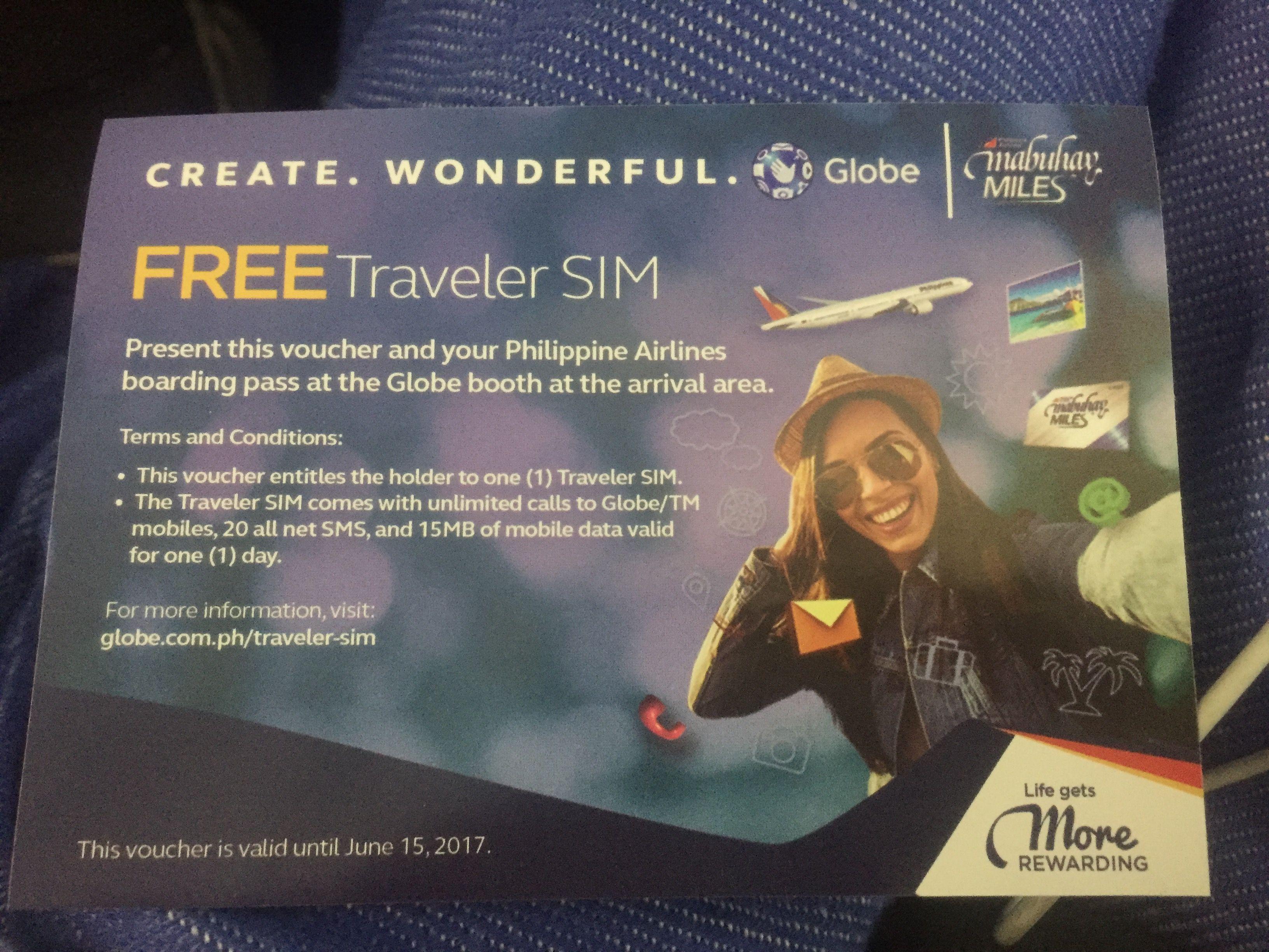 """機内で配られる1日限りの""""FREE Traveler SIM""""は素晴らしいアイディア"""