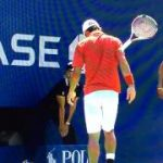 no look racket flip slow motion Kei Nishikori
