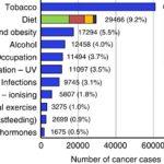 生活スタイルと環境要因のがん原因ランキング@イギリス、2010年版