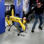 ボストン・ダイナミクスの犬型ロボットvsヒト
